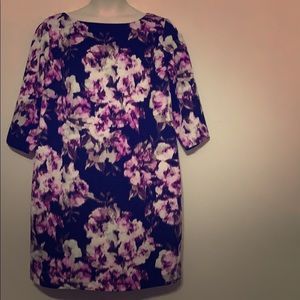 Jessica Howard Black, Purple & White Floral Dress
